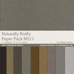 Naturally Krafty No. 11 Paper Pack- Katie Pertiet Papers- PP159662- DesignerDigitals