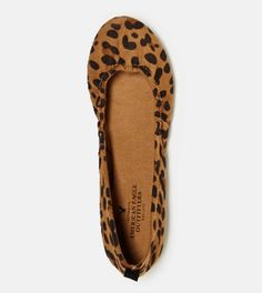 AEO Leopard Print Ballet Flat | American Eagle Outfitters