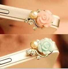flower dustproof plug for iphone 4 iphone 4s by handmadeblingcase, $5.99