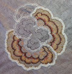 Embroidery Fungi #23, in progress, water soluble fabric, Wendy Ward art, Flickr