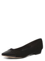 Womens Black 'Helena' Top Cap Pumps- Black