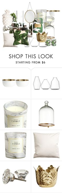 """H&M Home 2016"" by littlepine on Polyvore featuring interior, interiors, interior design, home, home decor, interior decorating and H&M"