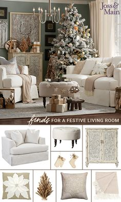 party room with christmas Rustic Christmas, Christmas Home, Christmas Holidays, White Christmas, Christmas Trees, Cozy Living Rooms, Living Room Decor, Living Room Essentials, Sofa Shop