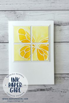 Stampin' Up! Beautiful Day Butterflies with Brusho