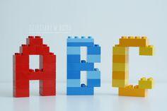 Litery z Lego Duplo   Dzieciaki w domu