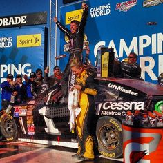 from Alan Cavanna Sweet, sweet victory lane for @Jamie McMurray #nascar