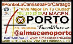 ALMACEN OPORTO: Ponte La Camiseta Por Cartago Por @JorgeEMoncadaA