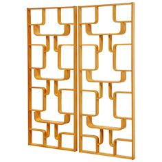 Czech Plywood Room Divider Set by Drevopodnik Holesov, 1960 | From a unique collection of antique and modern screens and room dividers at https://www.1stdibs.com/furniture/more-furniture-collectibles/screens/