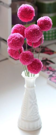 We take a break from the decoupage projects, to show you a tutorial for sweet pom pom flowers in preparation for Valentine's Day. If you rec...