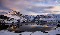 13. Aiguille Verte Lac Cheserys 50 X 75 cm Epson hot press natural 300g paper  Limited edition prints 1/25, Price 340 euro,  Framed 420 euro