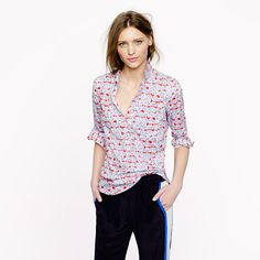 JCREW Liberty popover in Matilda tulip floral. I want allllll the Liberty prints ever.
