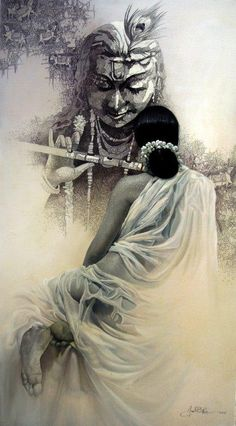 Amit Bhar is a famous Indian watercolor painting artist. He was born in West Bengal in His paintings are characterized with natural light and shadow. Shiva Art, Krishna Art, Shree Krishna, Lord Krishna, Krishna Images, Radhe Krishna, Krishna Pictures, Hanuman, Durga
