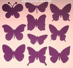 Discover thousands of images about How to Make Easy DIY Paper Butterflies Butterfly Party, Butterfly Crafts, Butterfly Wall, Butterfly Template, Flower Template, Diy Paper, Paper Art, Paper Crafts, Felt Flowers