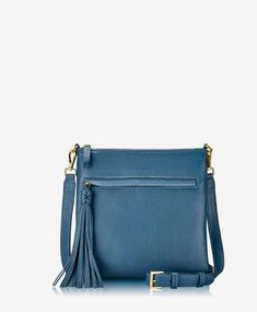 Made of Napa Luxe leather, the Scout Crossbody is the perfect silhouette for work, play and travel. The zip-top design is just large enough for the essentials, and it comes with an adjustable, crossbody strap for hands-free wear. Crossbody Bag, New York, Zip, Denim, Stylish, Leather, Bags, Shopping, Accessories