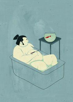Shout Illustrator - Sashimi ::: www.dutchuncle.co.uk/shout-images