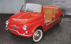 Funny Beach version of classic Fiat 500, recently sold at an auction in Monaco for € 82.700,- !