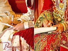 Muslim wedding ceremony (nikkah) - bride & groom signing the wedding contract #weddingphotography