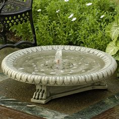 Longwood Claw-Footed Basin Fountain         Campania International creates an interesting focal point with the cast-stone Longwood Claw-Footed Basin Fountain. A wider basin that