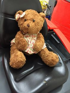 Teddy Bear in floral dress FOUND at Perth Airport Contact John Shjlling here: on his facebook here https://www.facebook.com/john.shilling.5