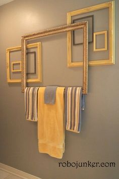 If you have a ton of old picture frames you're looking to repurpose, this is just the article for you! Repurpose your picture frames and decorate your home with tons of DIY home projects! Diy Bathroom, Home Projects, Interior, Diy Furniture, Home Decor, Home Diy, Frame Decor, Old Picture Frames, Bathroom Decor