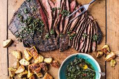 This soy-marinated flank steak with sesame-herb roasted potatoes from the Half-Baked Harvest cookbook is the perfect go-to for aSundaynight. Here's how to master it...