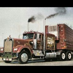 Kenworth classic W900A EX with matchin reefer
