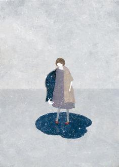 (c) Akira Kusaka Akira, Music Notes Art, Illustration Art Drawing, Pretty Art, Painting Patterns, Figurative Art, Art Pictures, Drawings, Artwork