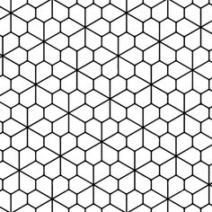 Geometric Tessellation with Rhombus Pattern Coloring page | Free ...