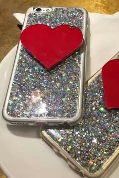 Fashion Bling Glitter Heart Style Iphone 6 & Iphone 6 Plus Protective Case For Teen