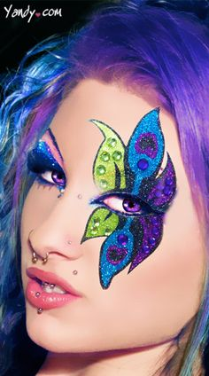 Xotic Eyes Peacock Glitter Professional Eye Make up Costume Accessory -- Click image for more details. (This is an affiliate link) Sexy Eye Makeup, Dramatic Eye Makeup, Dramatic Eyes, Body Makeup, Pretty Makeup, Fx Makeup, Amazing Makeup, Crazy Makeup, Makeup Brushes