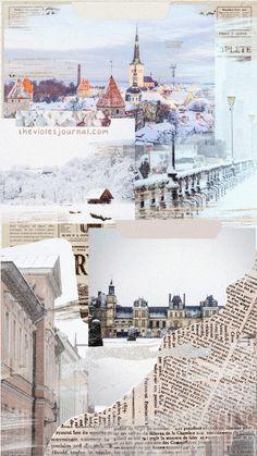 Pretty Wintery Collage Wallpaper