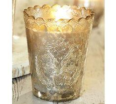 Mercury Glass Candle Pot & Votive Set Benefiting St. Jude Children's Research Hospital® #potterybarn