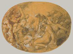 Joseph Heintz the Elder - Nymphs and Satyrs in a Landscape (2007.174) | Heilbrunn Timeline of Art History | The Metropolitan Museum of Art.