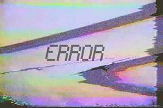Error screen glitch