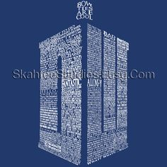 Doctor Who Tshirt Typography by SkahfeeStudios on Etsy, $23.00