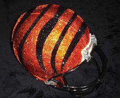 Bedazzled cincinnati bengals helmet!! Awesome.