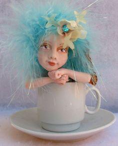 Blue & White Teacup Tea Leaf OOAK Fairy  http://cgi.ebay.com/ws/eBayISAPI.dll?ViewItem=151012741750