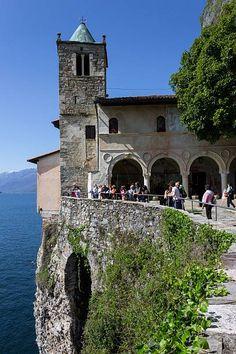Italy Lombardy Lake Maggiore Santa Caterina Del Sasso