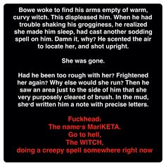 Bowe and Mariketa (Wicked Deeds on a Winter's Night by Kresley Cole) Immortals After Dark