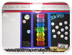 Making part of white board the behavior chart and using magnets for kids to move up and down!