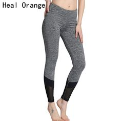 HEAL ORANGE Women Yoga Pants Net Yarn Splicing Quick-Drying Yoga Legging Training Running Sport Fitness Tights Woman Leggings -- AliExpress Affiliate's buyable pin. Find out more on www.aliexpress.com by clicking the image #Yogapants
