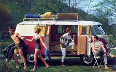 buses, volkswagen van, bus board, happy days, campervan, camper van, retro camping, france, vintage campers