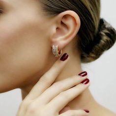 """""""Trilly"""" Diamond Mini Hoop Earrings - Plukka - Shop Fine Jewelry Online"""