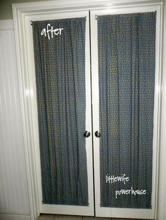 DIY French Door Curtains