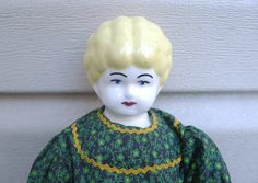 Antique China Doll Reproduction Prim Green Dress by MrFilthyRotten, $28.00