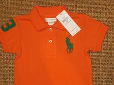 NWT POLO  RALPH  LAUREN INFANT  BABY BOY  POLO SHIRT BIG PONY  TOP  9 MONTHS   #PoloRalphLauren #PoloShirt