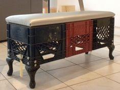 Plastic crate stool...