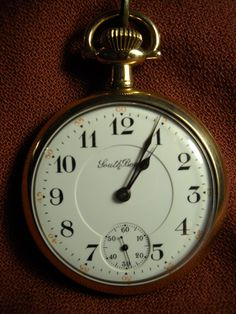 South Bend Studebaker Pocket Watch 16 Size 17 Jewel Gold Filled ca 1912 - This watch sets, winds, runs and keeps time nicely - would make a great gift or display piece - RottenAppleAntiques via Etsy