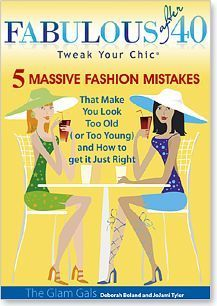 Style advice about Fashion over 40, beauty tips for women, and How to Look Fabulous after 40 from Deborah Boland and JoJami Tyler, Glam Gals.