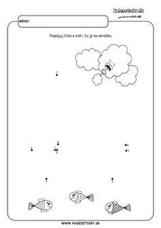 Spájame bodky. Loďka. - Aktivity pre deti, pracovné listy, online testy a iné